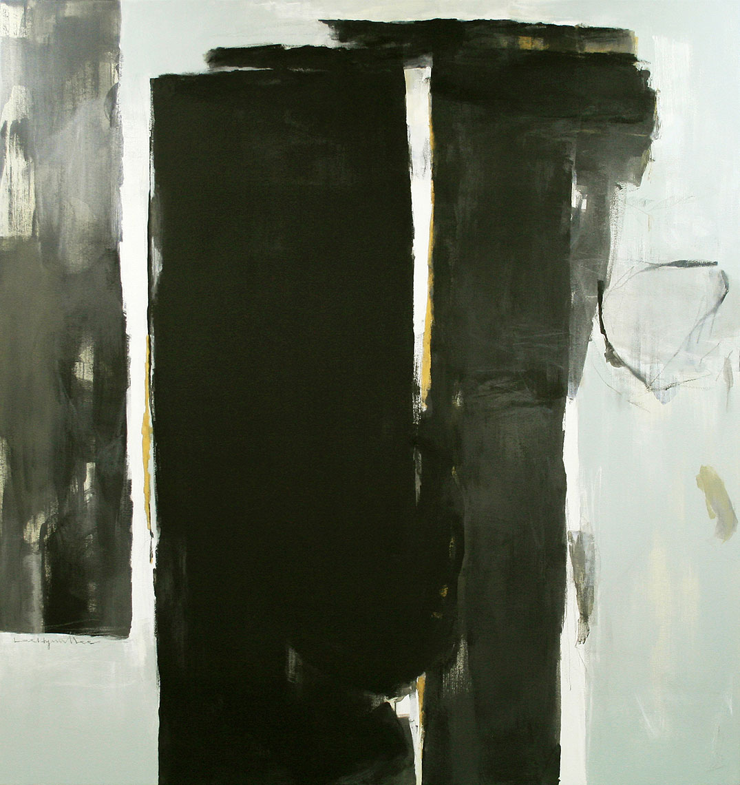 SERAPHIC STONE 8.    acrylic on canvas.   72 x 68 inches.   2007